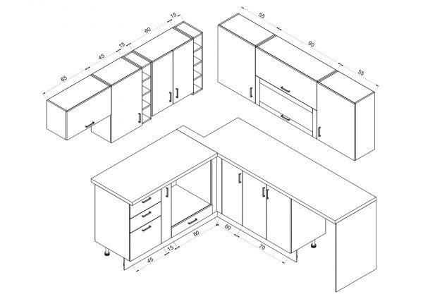 Кухня № 14 схема